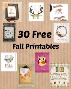 30 Free Fall Printables