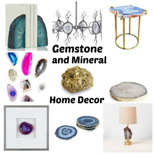 Gemstone and Mineral Home Decor