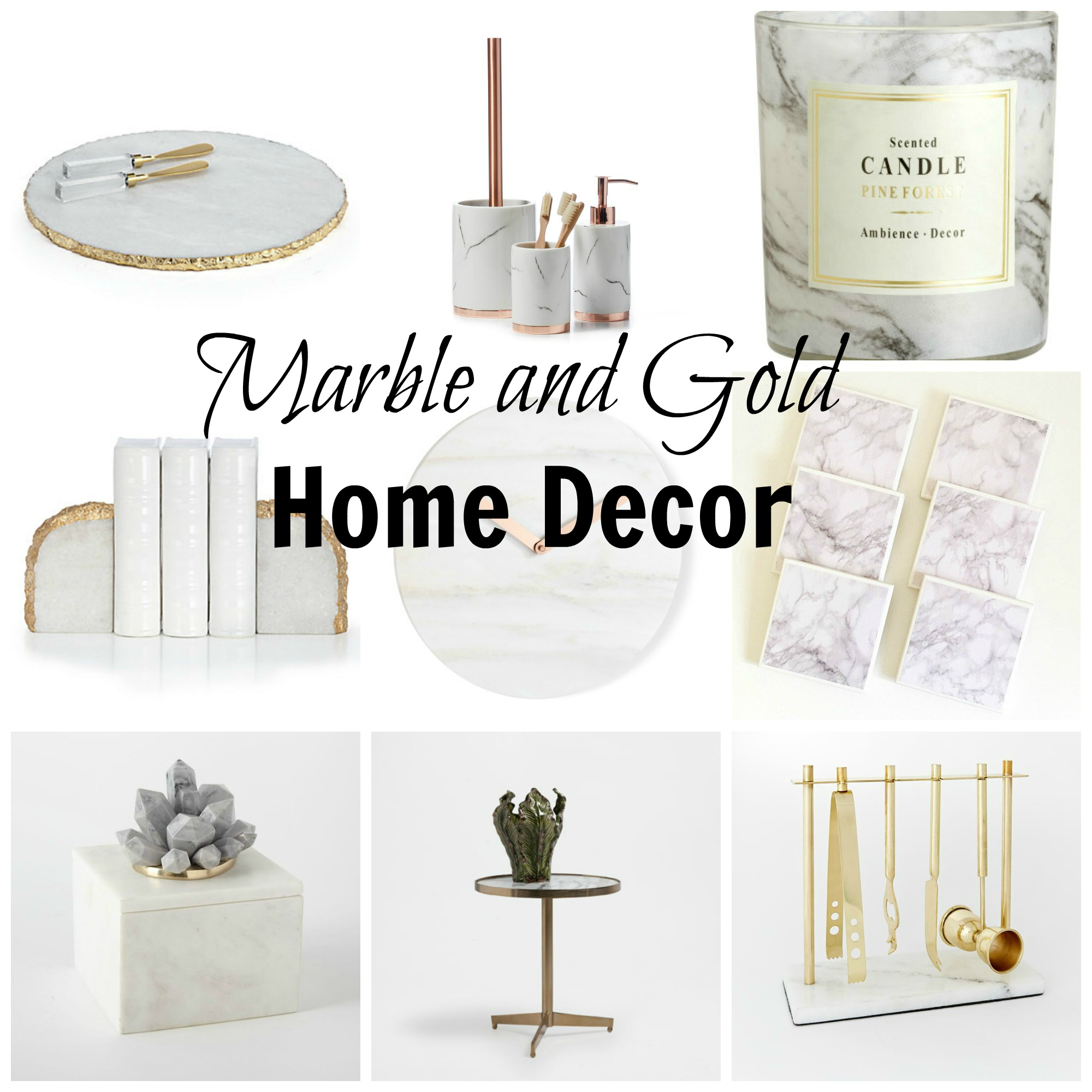 Trend Spotting Gold and Marble Decor Jenn and Tonic