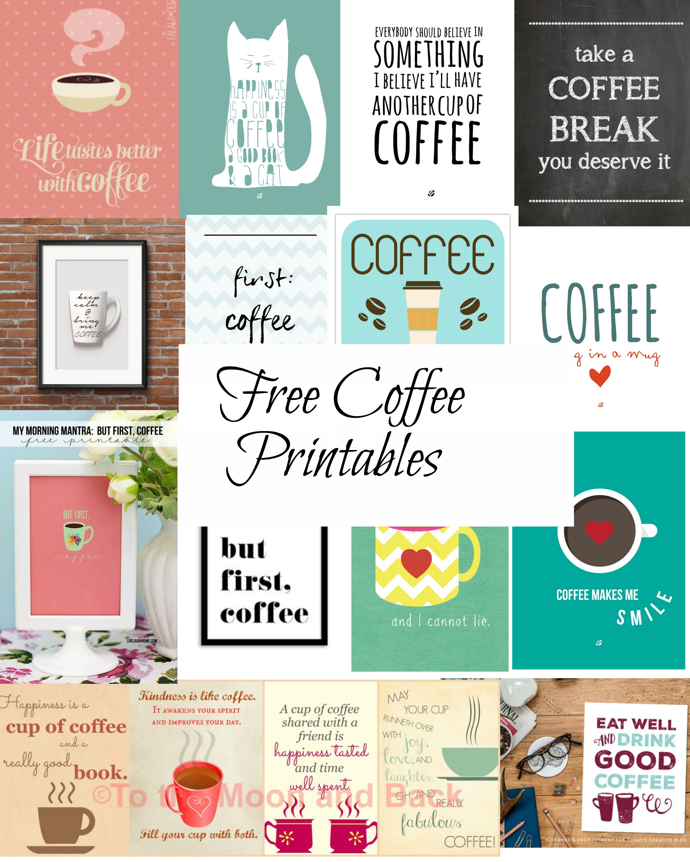 21 Free Printables for Your Coffee Cart | Jenn and Tonic