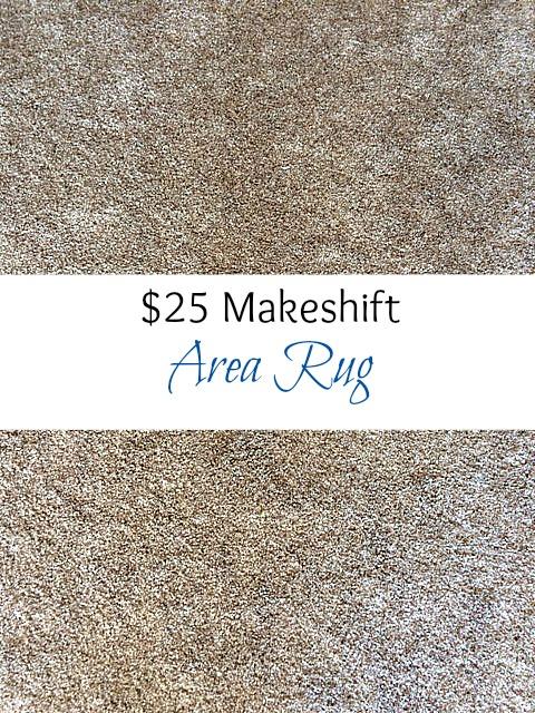 $25 makeshift area rug!