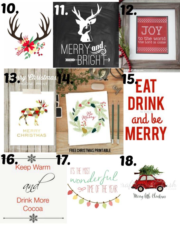 Christmas printables 10-18