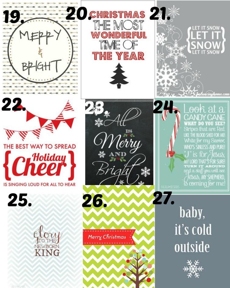Christmas Printables 19-27