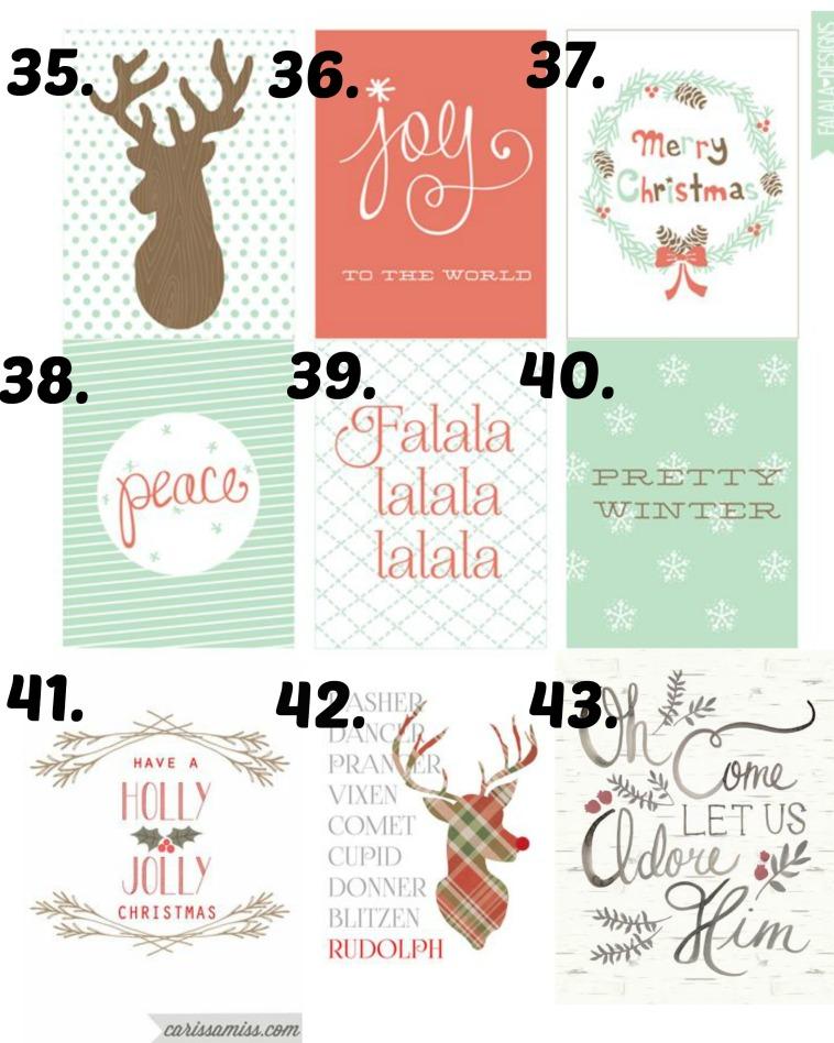 Christmas Printables 35-43
