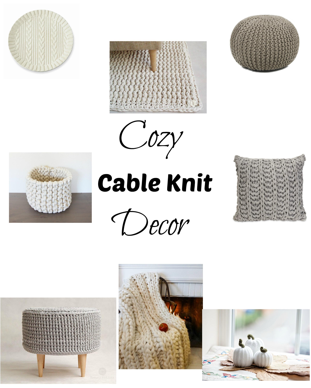 Cozy Cable Knit Decor