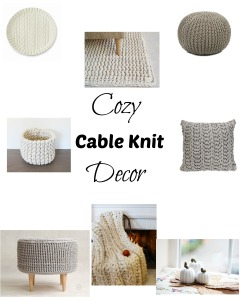 Cozy cable knit home decor