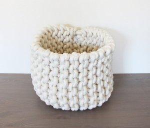 rope knit basket